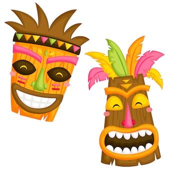Máscaras de luau
