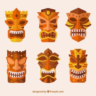 Máscaras tiki decorativas