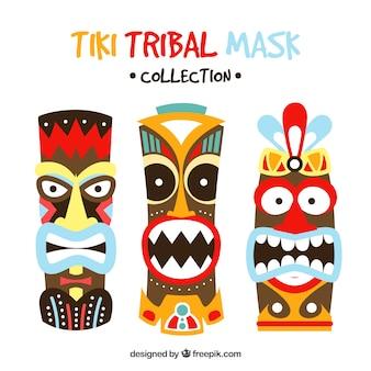Máscaras tribales con estilo étnico