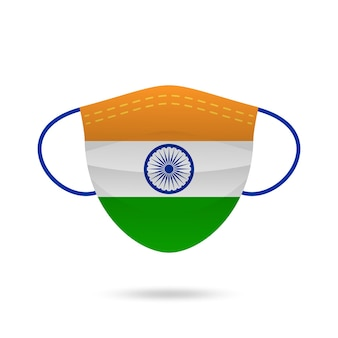 Mascarilla india prevención del coronavirus.