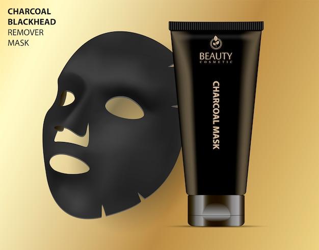 Mascarilla removedor de espinillas de carbón cosmético facial