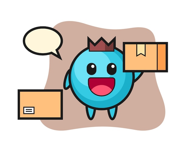 Mascot arándano como mensajero
