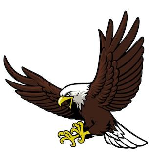 Mascota águila volando