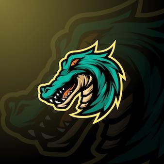 Mascota aligator logo e-sport