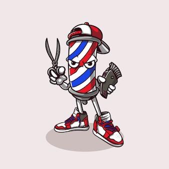Mascota de la barbería