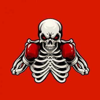 Mascota del boxeador del cráneo