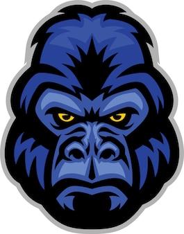 Mascota de cabeza de gorila