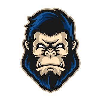 Mascota cabeza de gorila