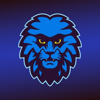 Mascota de cabeza de león