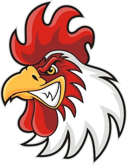 Mascota cabeza de pollo