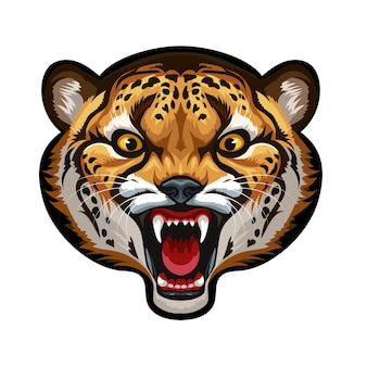Mascota. cabeza de vector de guepardo aislado