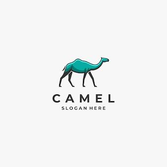 Mascota de camello con logo