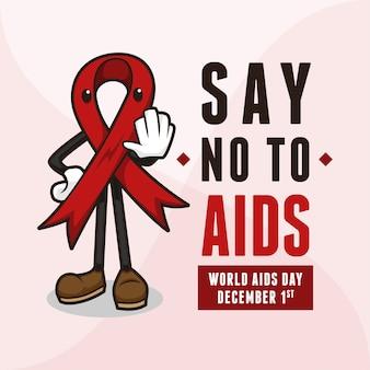 La mascota de la cinta roja dice no al sida .jpg