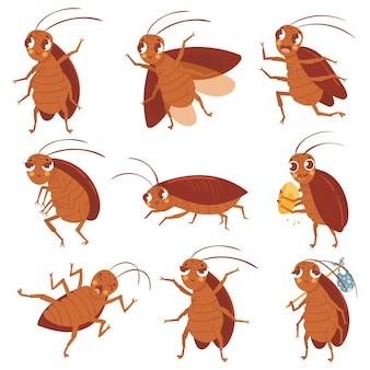Mascota de cucaracha de dibujos animados