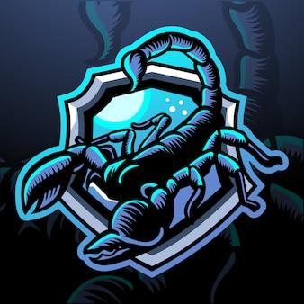 Mascota del escorpión. logotipo de esport
