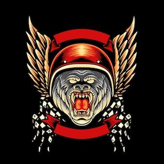 Mascota de gorilla motorcycle club