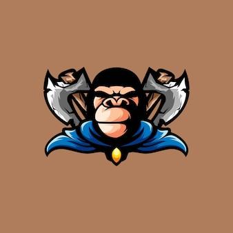 Mascota del hacha del gorila