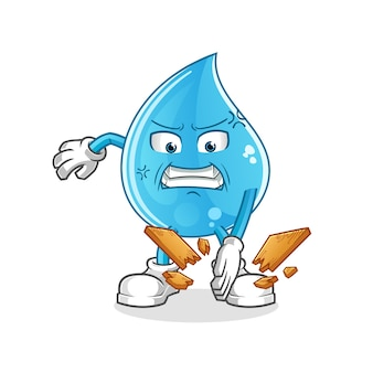 Mascota de karate de gota de agua