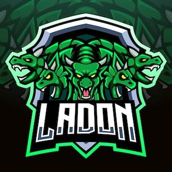 Mascota de ladon. diseño de logo de esport