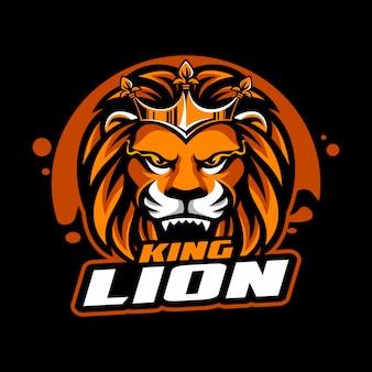 Mascota de león con corona