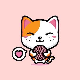 Mascota linda del gato