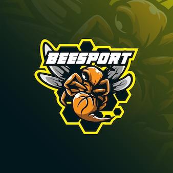 Mascota logo de abeja