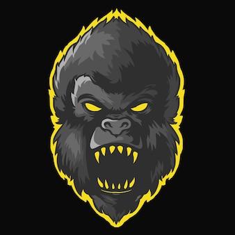 Mascota de logo de cabeza de kong