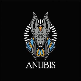 Mascota del logotipo de anubis