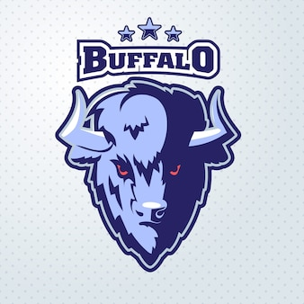 Mascota del logotipo de buffalo head