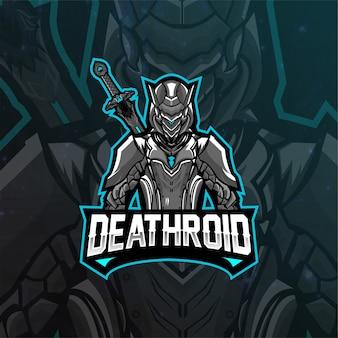 Mascota del logotipo de deathroid