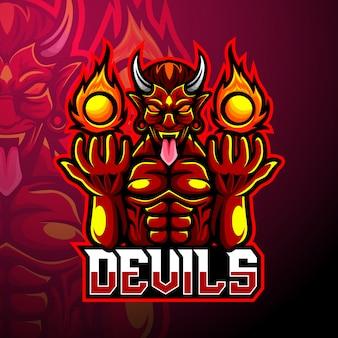 Mascota del logotipo del diablo esport