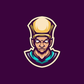 Mascota del logotipo del faraón