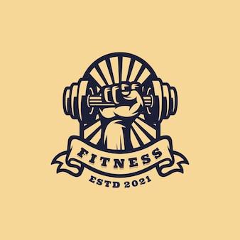 Mascota del logotipo de fitness