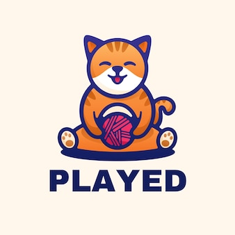 La mascota del logotipo jugó al estilo simple de la mascota.