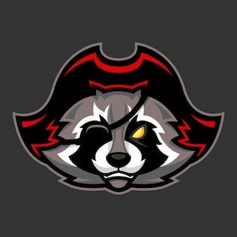 Mascota de mapache pirata