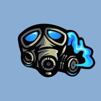 Mascota de la máscara de gas
