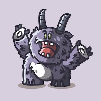 Mascota monstruo aterrador