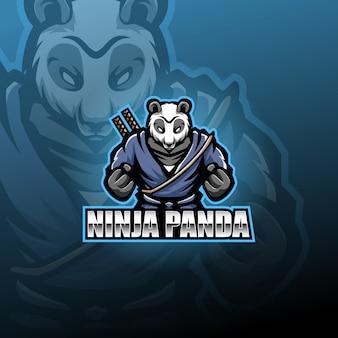 Mascota panda ninja