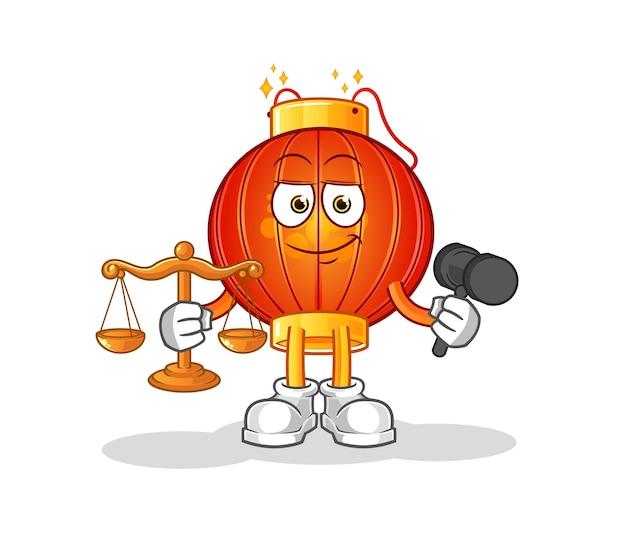 La mascota del personaje del abogado de la linterna china