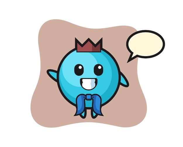 Mascota de personaje de arándano como marinero