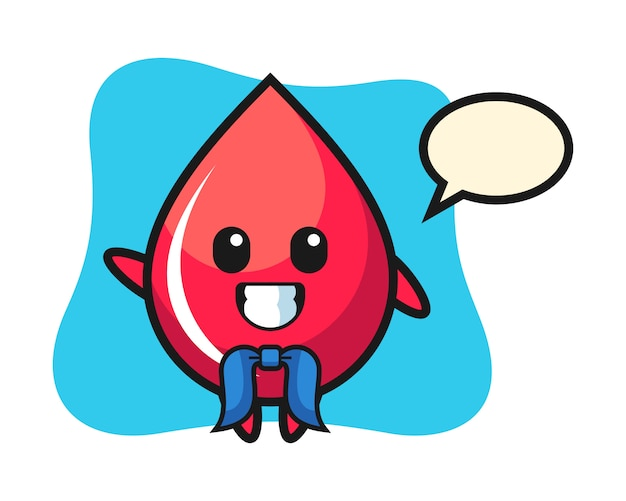 Mascota de personaje de gota de sangre como un marinero, estilo lindo, pegatina, elemento de logotipo