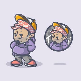 Mascota del personaje de hip hop