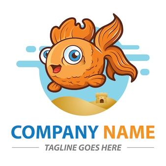 Mascota de pez dorado