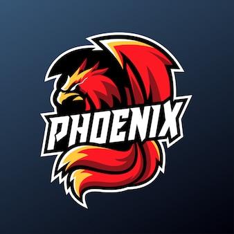 Mascota de phoenix para el logotipo de deportes y deportes