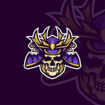 Mascota samurai logo e-sport