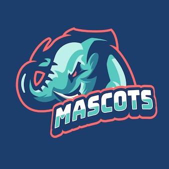 Mascotas del logotipo del juego de elephant esports