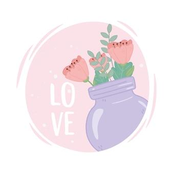 Mason jar con flores