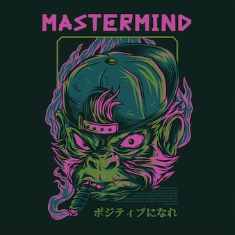 Mastermind monkey illustration