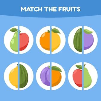 Match juego para niños ilustración