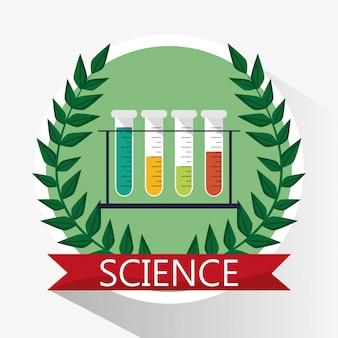 Material escolar de probeta de ciencias